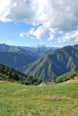 Panoramic view of mountains — Stock Photo