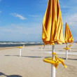 Umbrellas on the beach — Foto de Stock