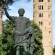 St. Apollinare in Classe statue and round tower — Stock Photo