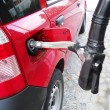 Methane car fueling — Foto Stock