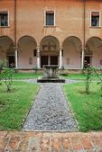 St. Vitale basilica church cloister — Stock Photo
