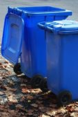 Latas de lixo — Fotografia Stock