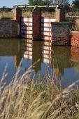 Canal sluice — Stock Photo