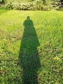 Woman's shadow — Stock Photo
