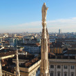 Panoramic view of Milan — Stock Photo