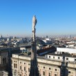 Panoramic view of Milan - Stock Photo