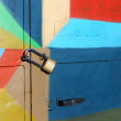 Locked colorful door — Foto Stock