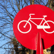 Foto Stock: Bicycle sign