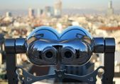 Telescope looking Milan — Стоковое фото