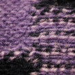 Violet and gray knitting wool texture — Stock Photo