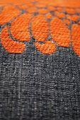 灰色和橙色的织物纹理 — 图库照片