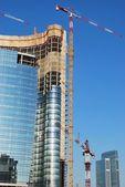 Skyscrapers construction — Stock Photo