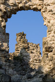 Old castle ruins in Transcarpathian Ukraine village Seredne — Stock Photo