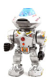 Toy Robot on Isolated White Background — Stock Photo