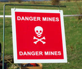 Danger mines — Stock Photo