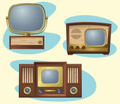 Retro TVs — Stock Vector