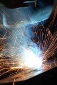 Welder at work — Foto Stock