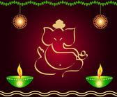 Indian God Ganesha — Stock Photo