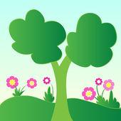 Árboles y plantas — Foto de Stock