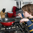 Stock Photo: Cooking Boy
