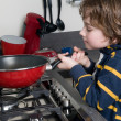 Cooking Boy — Stock Photo