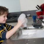 Having fun with soap — Stock Photo #5917863