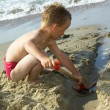 Boy Playing At The Beach — Stock Photo
