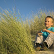 Boy In The Dunes — Stock Photo #5917899