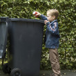 Boy Trashing A Can — Stock Photo #5917908