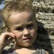 Thinking little boy — Stock Photo