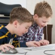 Stock Photo: Boys on a computer