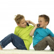 Two Friends Calling Each Other — Stock Photo