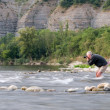 Stock Photo: Photographer in Ardeche