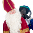 Saint Nicholas and his helper — Stock Photo #5918488
