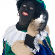 Zwarte Piet with bag — Stock Photo #5918534