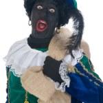 Zwarte Piet with bag — Stock Photo