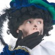 Stock Photo: Child playing Zwarte Piet or Black Pete