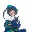 Child playing Zwarte Piet or Black Pete - Stock Photo