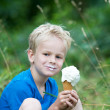 Enjoying an icecream — Stock Photo