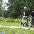 Stock Photo: Biking Seniors In The Park