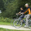 Stock Photo: Biking Seniors