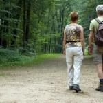 Senior couple hiking — Stock Photo #5919027