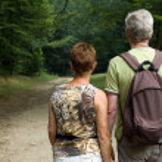 Senior couple hiking -1 — Stock Photo #5919028