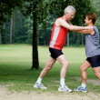 Running exercises - 2 — Stock Photo