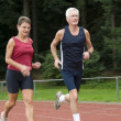 Stock Photo: Running Seniors