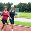 Stock Photo: Running Pensioners