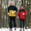Running In The Snow — Stock Photo #5919062