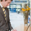 Young Businessman Working — Stock Photo