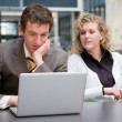 Curious Businesswoman Looking At Her Colleague — Stock Photo #5919108