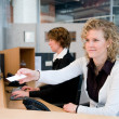 Stock Photo: Front desk